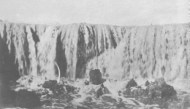The falls shown in this photograph were 28 feet high pre-1907;  Credit: H.T. Cory