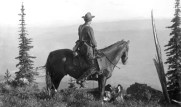 Forest Ranger on forest fire patrol duty;   Cabinet National Forest, Montana, 1909;  Credit: