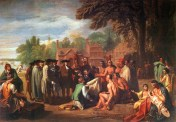 Treaty William Penn with the Lenni Lenapes;  Artist: Nathaniel Currier