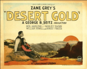 1926 Desert Gold - Sunset poster