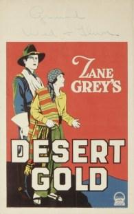 1926 Signed Desert Gold Poster