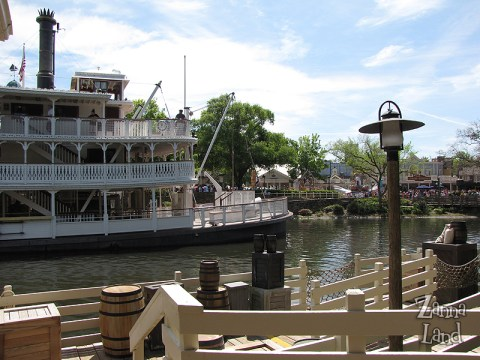 view from Tom Sawyer Island