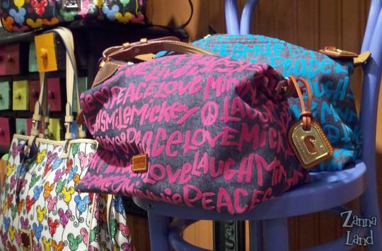 Disney Dooney and Bourke Peace Love Mickey Minnie bag
