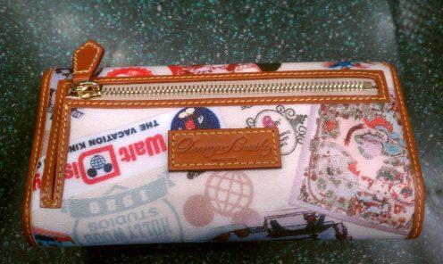 Disney WDW 40th Anniversary Dooney wallet back