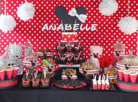 Minnie Mouse birthday party sweets
