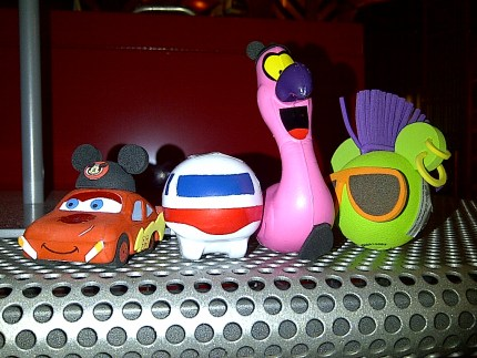 Cars Monorail Flamingo Mohawk Disney antenna toppers