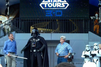 George Lucas at Star Tours Opening