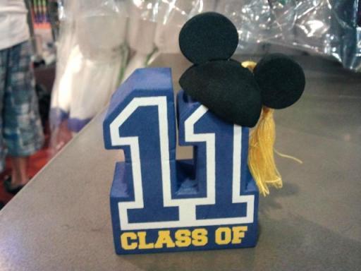 Class of 11 Graduation Mickey antenna topper
