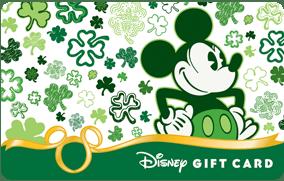Shamrock Mickey Gift Card