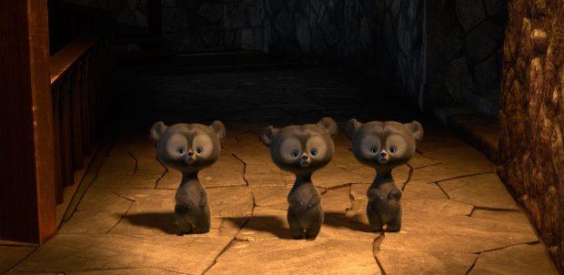Brave bear cubs