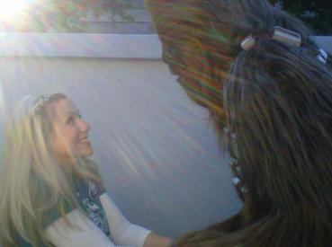 Ashley Eckstein and Chewbacca