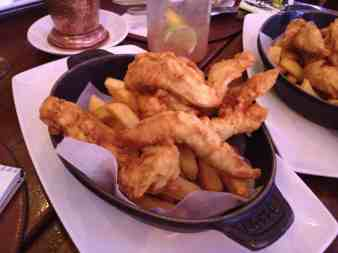 Chicken fingers and chips Raglan Road