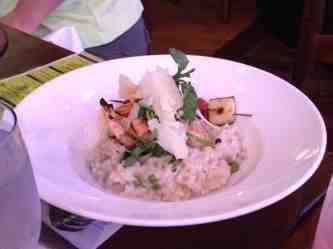 Raglan Risotto with shrimp