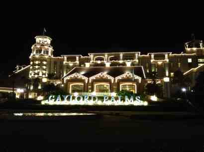 Gaylord Palms holiday lights