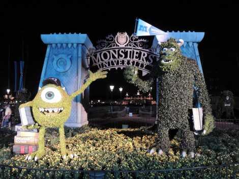 Monsters University topiary