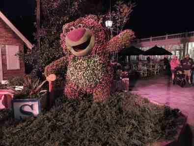 Lotso topiary at night