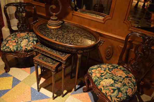 Antique table & chairs inside suite