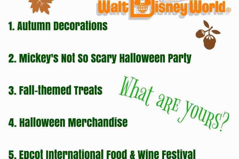 Top 5 Ways to Welcome Fall in Walt Disney World