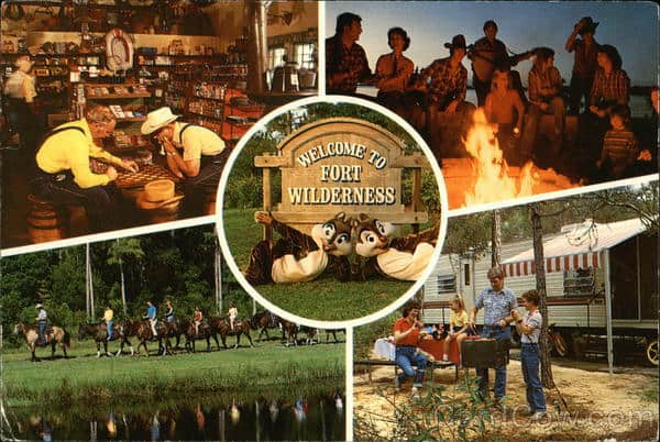 Fort Wilderness vintage post card