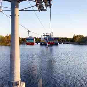 Disney Skyliner over Hourglass Lake