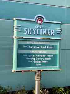 Disney Skyliner sign