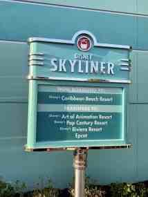 Disney Skyliner sign