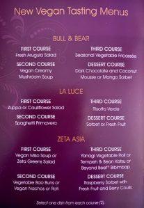 Vegan Tasting Menu Hilton Bonnet Creek Waldorf