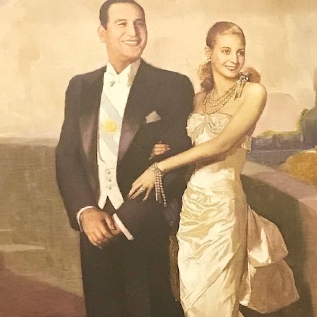 Quadro de Evita com Perón