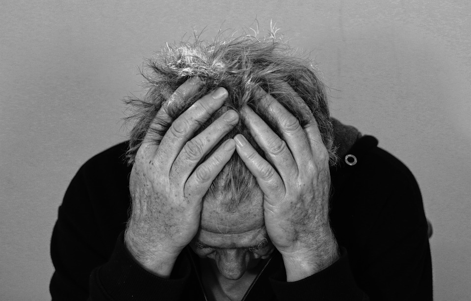 Man expressing sadness