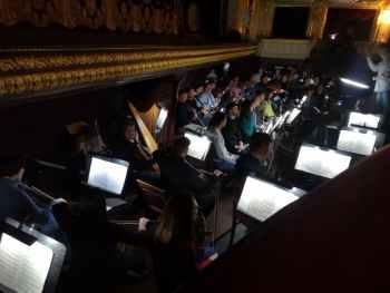 оркестр репетиция