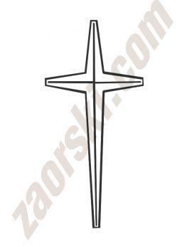 Zaorski - zdobienie krzyżem wariant 2