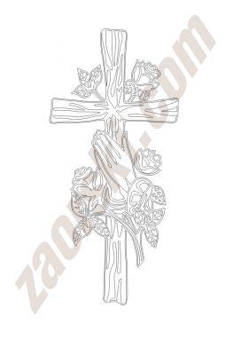 Zaorski - zdobienie krzyżem wariant 13