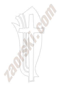 Zaorski - zdobienie krzyżem wariant 25