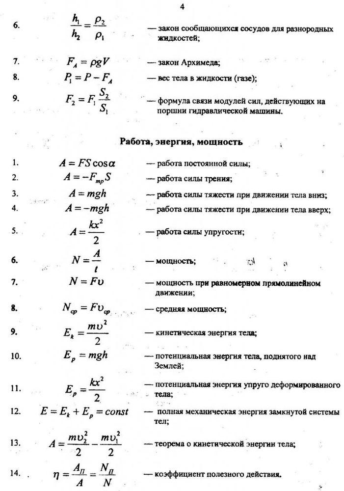 Основные формулы для решения задач по физики решение задач по базе данных