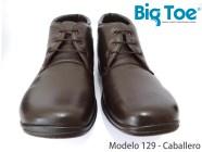Zapato Big Toe para pie diabético de Caballero Modelo 129 Café