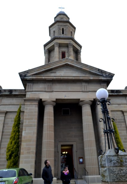 Una de las tantas iglesias de Hobart, última parada antes de terminar el día.