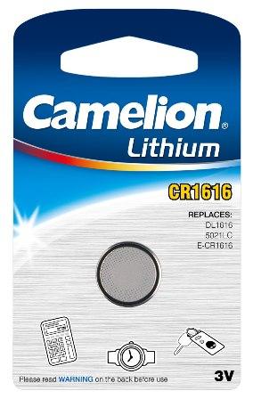 Boton Litio CR1616 3V (1 pcs) Camelion