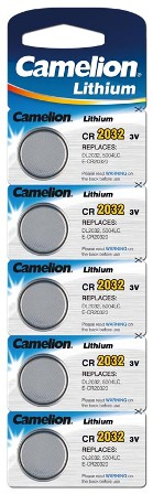 Boton Litio CR2032 3V (5 pcs) Camelion