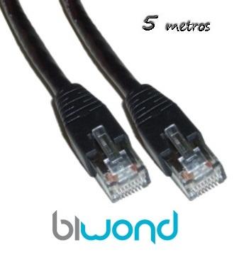 Cable Ethernet 5m Cat 5 BIWOND