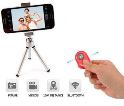 Disparador Cámara remoto Bluetooth Rojo
