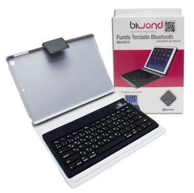 Funda teclado Bluetooth iPad Air Rosa Biwond