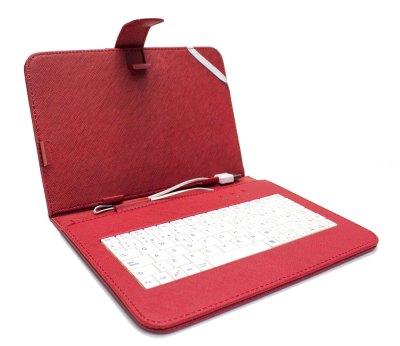 """Funda Tablet Teclado 9"""" Roja"""