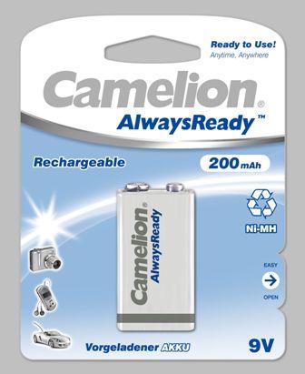 "Recargable ""Always Ready"" 9V 200mAh (1 pcs) Camelion"