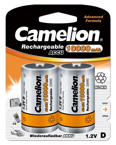 Recargable D 10000mAh (2 pcs) Camelion