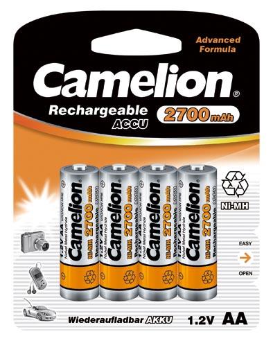 Recargable AA 2700mAh (4 pcs) Camelion