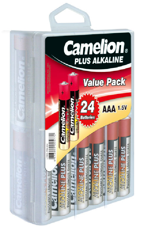 Plus Alcalina AAA (Blister 24 pilas) Camelion