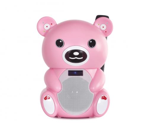 Altavoz Portátil Karaoke + Reproductor USB/SD/Bluetooth Rosa Fon