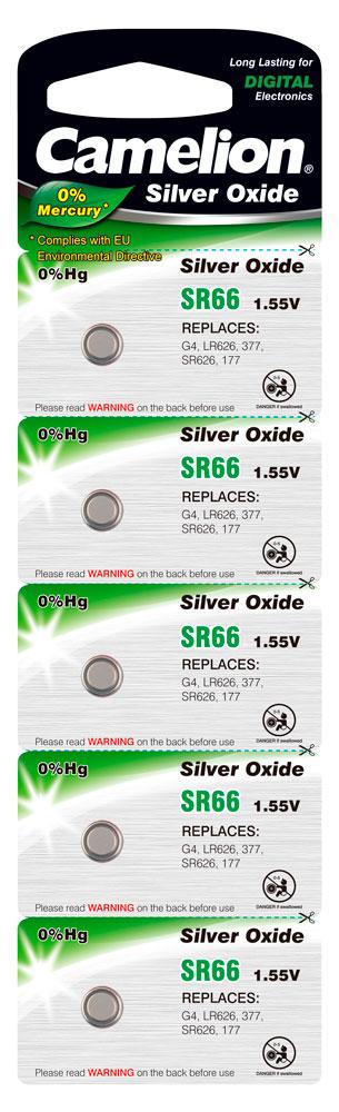 Boton Oxido plata SR66W 1.55V 0% Mercurio (5 pcs) Camelion