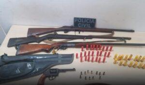 Polícia encontra esconderijo de armas e munições, em Dom Eliseu
