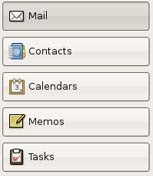 Evolution e-mail and contact software; click to view full-size image.